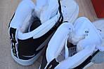 Чоловічі зимові кросівки Nike Air Force 1 Mid LV8 (біло-чорні), фото 5