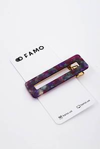Заколка FAMO Веда фиолетовая Длина 6.7(см)/ Ширина 2.2(см) #L/A