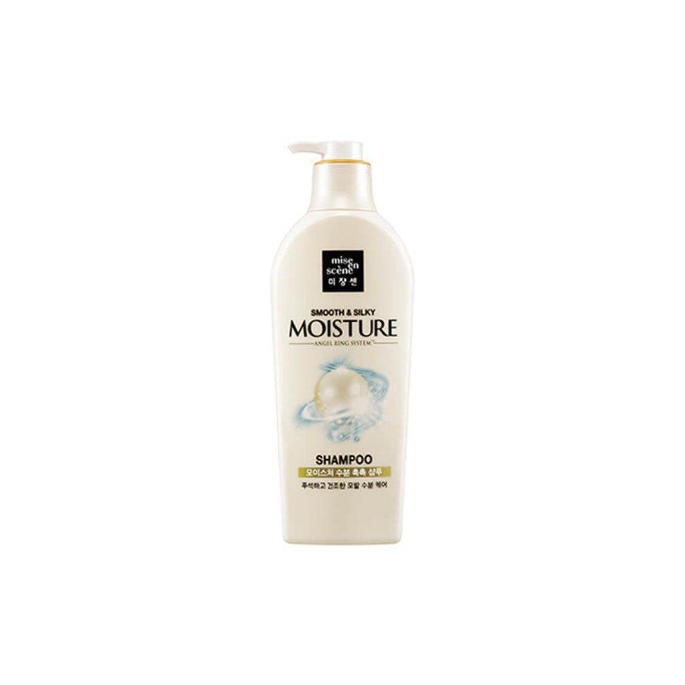 Увлажняющий шампунь для сухих волос Mise en Scene Pearl Smooth & Silky Moisture Shampoo, 530 ml