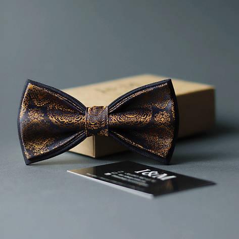 Галстук-бабочка I&M Craft золотой с синим (010304), фото 2