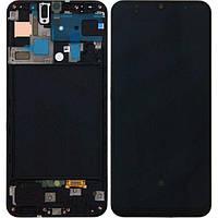 Дисплей Samsung A50 SM-A505 Original 100 %(Service Pack) Black
