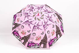 Дитячі парасолі FAMO Парасолька дитячий Париж рожевий Діаметр купола 114.0(см)/ Довжина спиці 48.0(см)/ Довжина в складеному вигляді 66.0(см) (RST040) #L/A