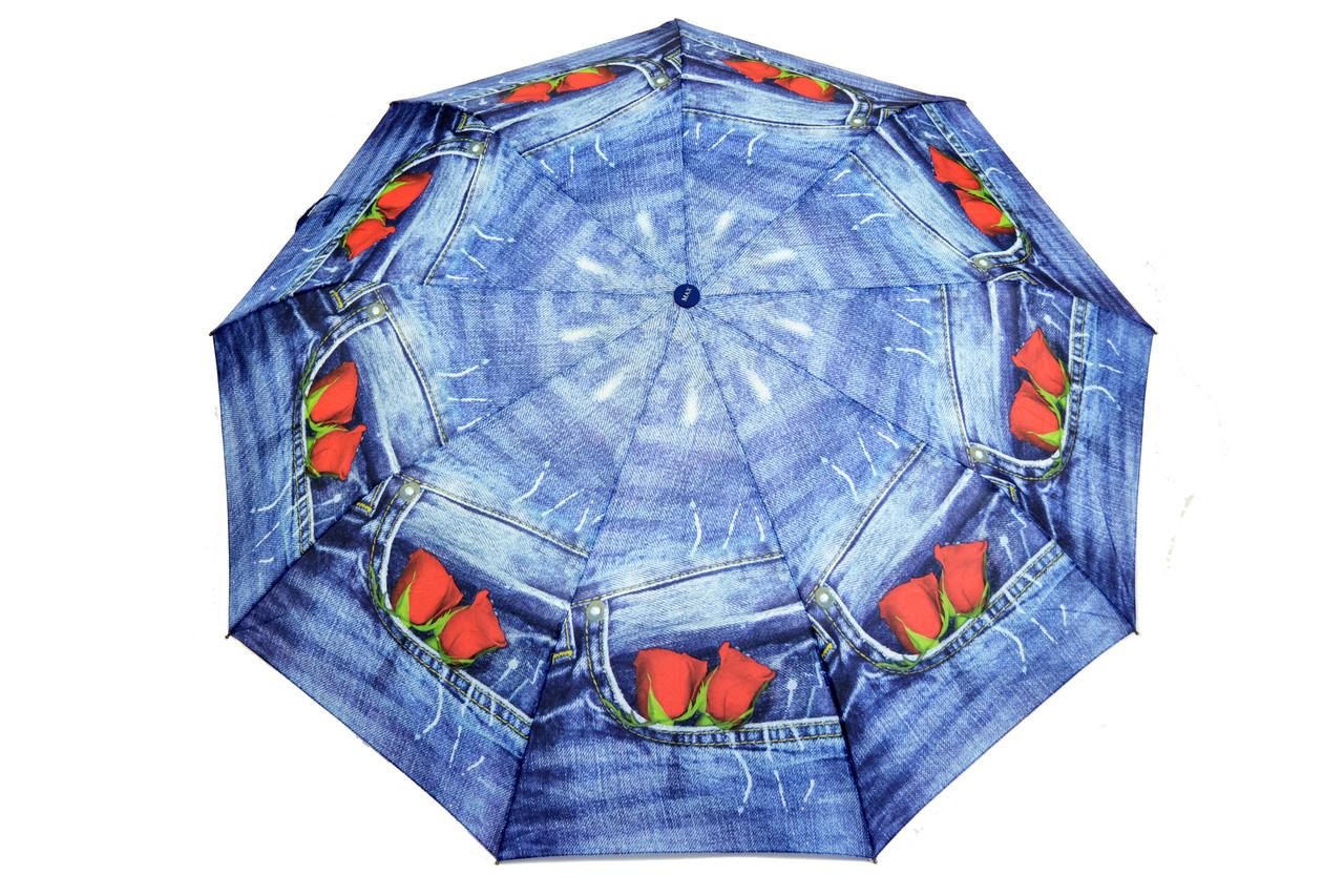 Зонт FAMO Джинсовый роза Диаметр купола 96.0(см)/ Длина спицы 55.0(см)/ Длина в сложенном виде 31.0(см) (471) #L/A