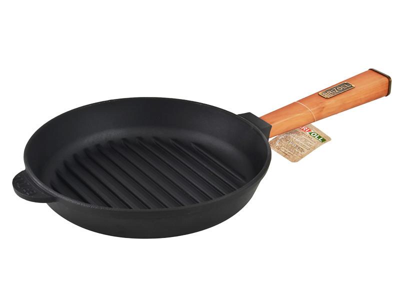 Сковорода гриль чавунна 26 см Оптима Brizoll О2640Г-Р