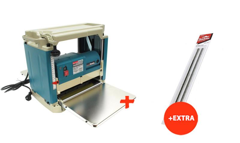 Рейсмус Makita 2012NB + строгальные ножи для рейсмуса (2012NBX)