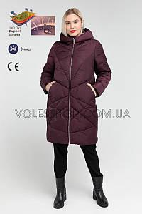 Пуховик А-образного силуэта, женский, большой размер (46 48)  805  зима 2019/20