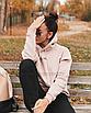 Толстовка женская на флисе с капюшоном oh yes реглан худи бежевый, фото 6