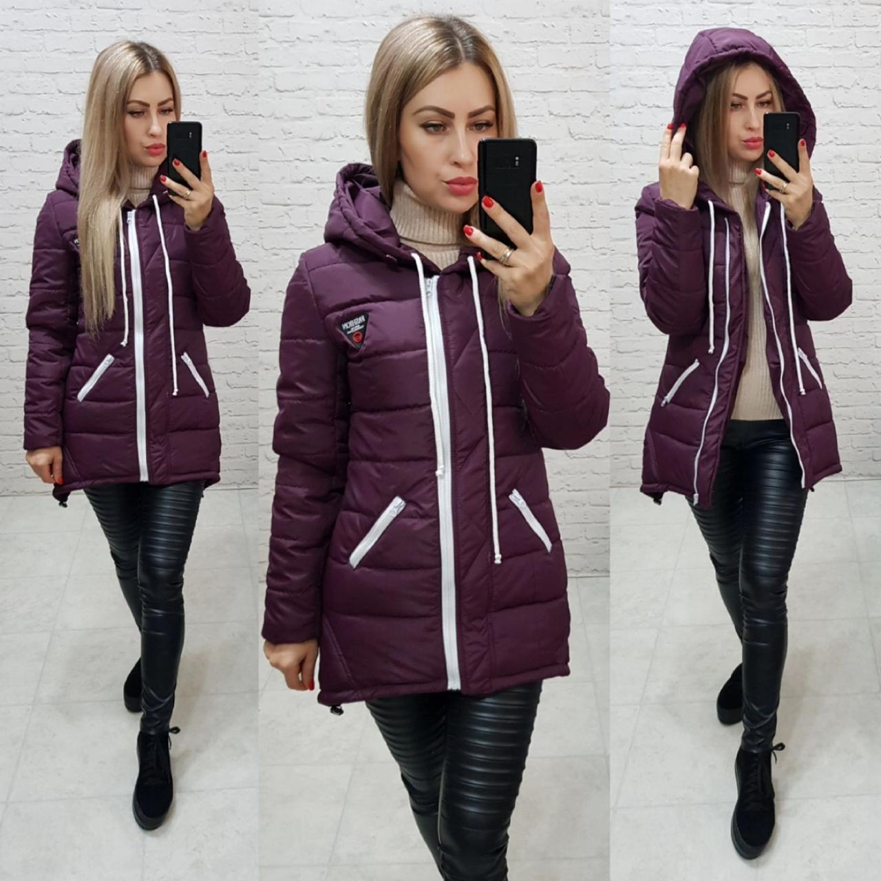 Куртка парка зима, арт  204, фиолетовый