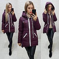 Куртка парка зима, арт  204, фиолетовый, фото 1