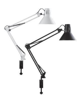 Настільний світлодіодний світильник Feron DE1430 на струбцині чорний