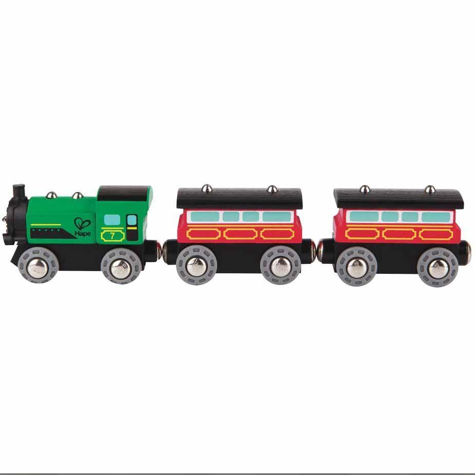 Паровозик Hape Пассажирский поезд с 2 вагонами (E3719)