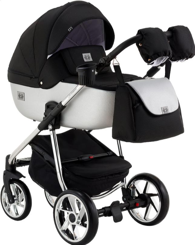 Детская универсальная коляска 2 в 1 Adamex Hybryd Plus Polar BR615