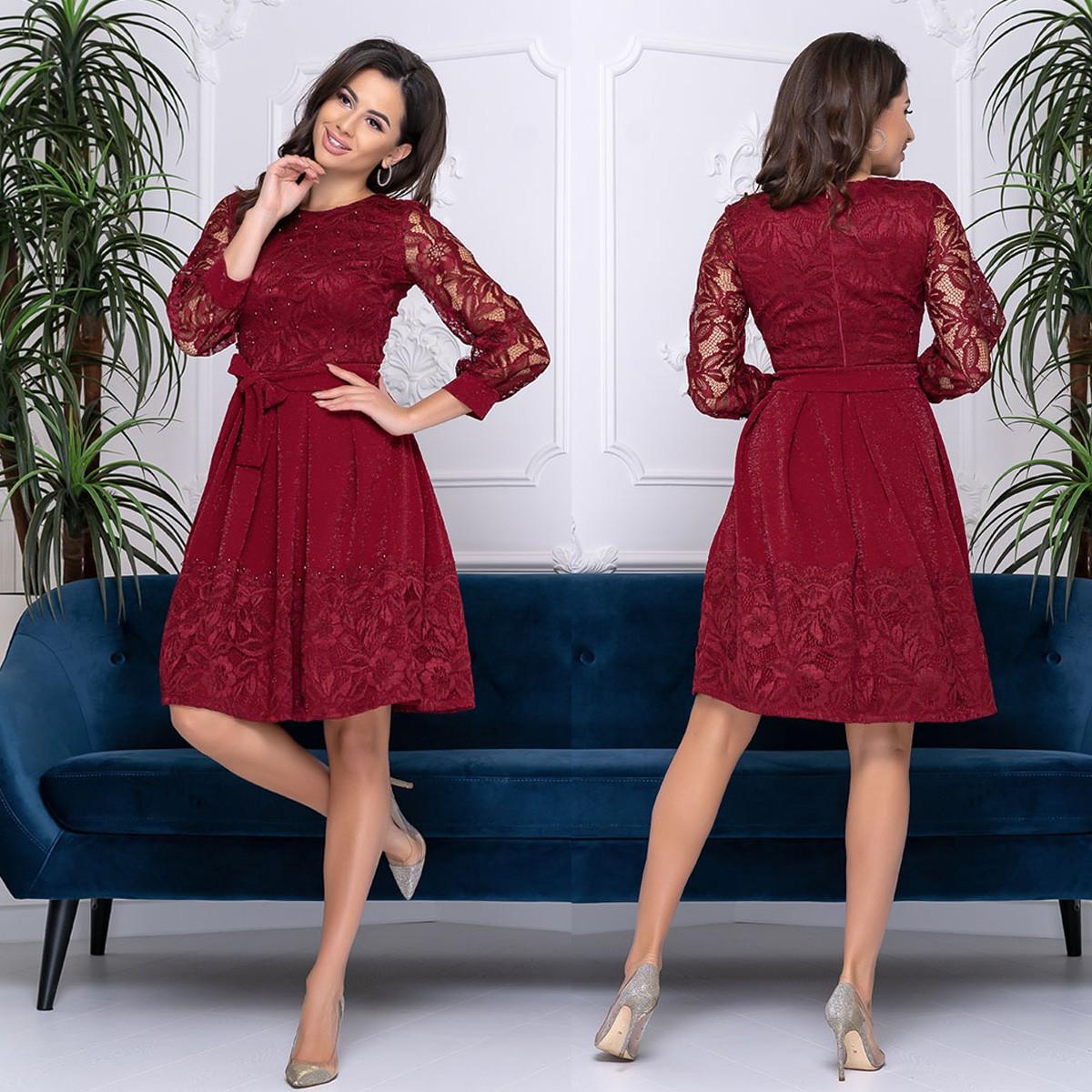 """Бордове красиве жіноче плаття вечірнє """"Росина"""""""
