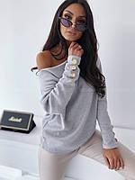 Женский Ангоровый Свитер с пуговицами, фото 1