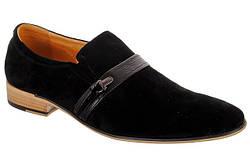 Стильные мужские замшевые туфли ROZOLINI R02-22-A01  45  черный