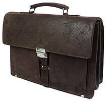 Мужской кожаный деловой портфель A-art TSM1401-2 коричневый