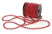 Бусы пластиковые Bonita Красный 5 мм * 10 м ( 147-485)