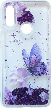Накладка Xiaomi Redmi7 violet baterfly аквариум, фото 2