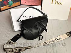 Женская кожаная сумка Dior  Saddle
