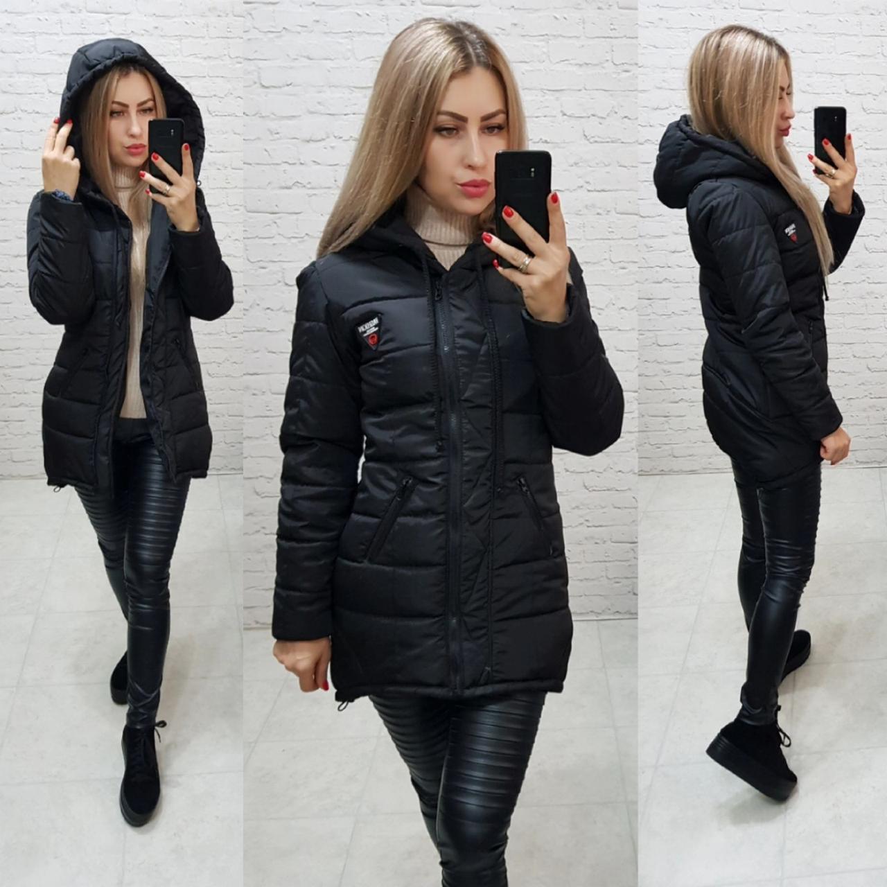 Куртка парка зима, арт  204, черный