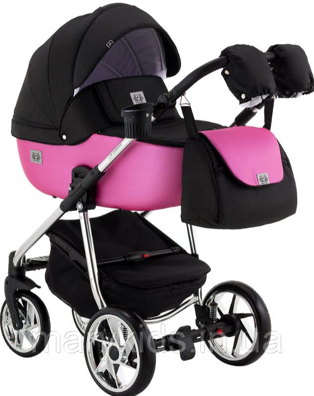 Детская универсальная коляска 2 в 1 Adamex Hybryd Plus Polar BR607