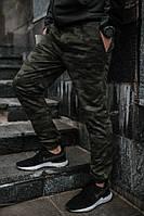 Трикотажные камуфляжные мужские штаны green camo, весна-осень, фото 1