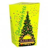 """Чай  Базилур """" Рождественская елка  """" Желтая  85 г  картон"""