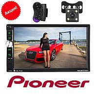 Автомагнітола 2Din Pioneer 7040CRB USB,SD, Video ПУЛЬТ НА КЕРМО КАМЕРА