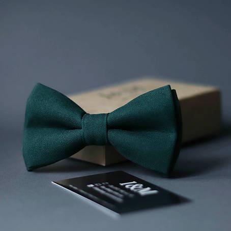 Галстук-бабочка I&M Craft классический темно-зеленый (010319), фото 2