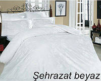 """Евро-комплект постельного белья Сатин """"Altinbasak"""" Sehrazat wite. Турция"""