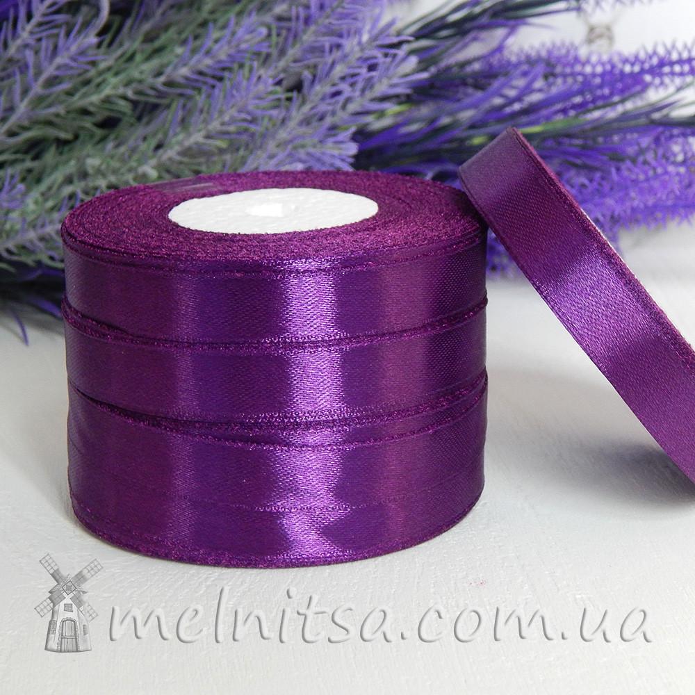 Атласная лента 1,2 см, №34 фиолетовый, рулон 23 м