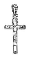 Крестик фирмы Xuping, цвет: серебряный.Высота крестика: 3 см. Ширина: 12 мм