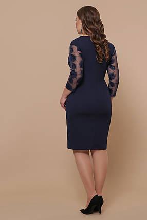 Жіноча коктейльне плаття-футляр Великі розміри XL, XXL, XXXL, фото 2