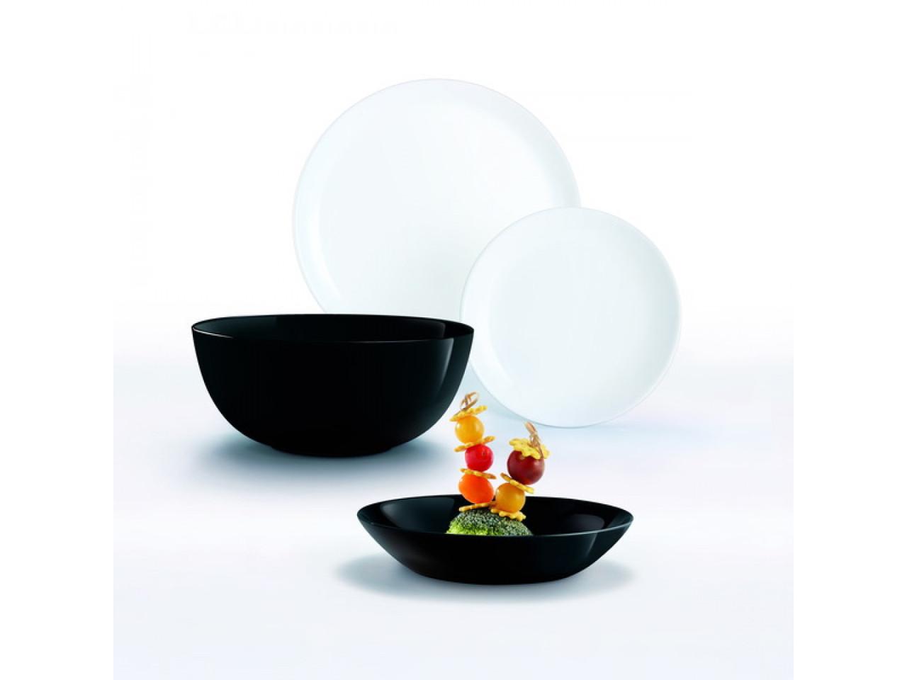 Сервиз Diwali Black&White из 19 предметов на 6 персон