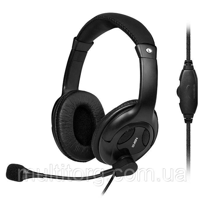 Наушники SVEN AP-675MV с микрофоном черные