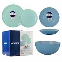 Сервиз Diwali Light Blue & Light Turquoise из 19 предметов на 6 персон
