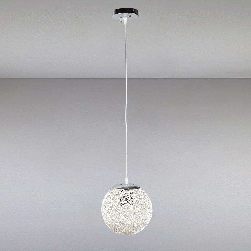 Люстра подвесная на одну лампу LS-814017/1 WH белая