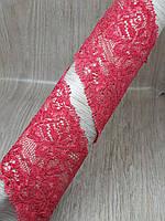Кружево стрейчевое 55 мм красное