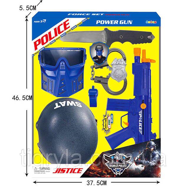 """Игровой набор """"Полиция"""" - шлем, маска, автомат, аксессуары. Полицейский набор"""