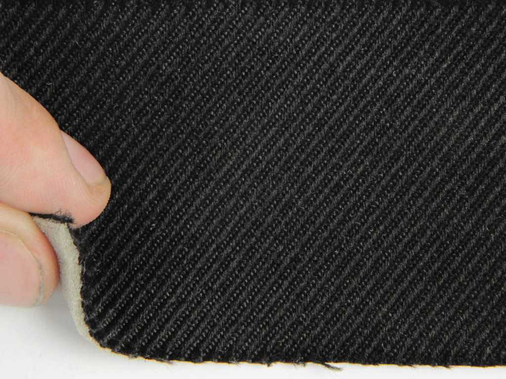 Ткань для сидений автомобиля, черный, на поролоне (для боковой части), Германия