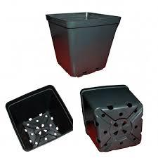 Квадратний горщик 15,5*15,5*15 чорний (1пал.=11200шт) 3,0л