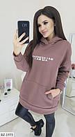 Женский стильный теплый худи  ЗБ5108 (норма), фото 1