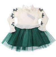 Вязаное платья для девочки  3, 4,  7 лет