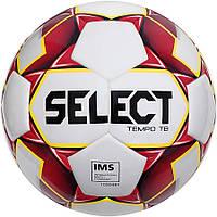 М'яч футбольний Select Tempo IMS, біло-червоний, р. 5