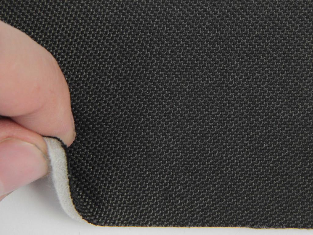 Ткань для сидений автомобиля, черный, на поролоне (для боковой части), толщина 3мм Германия