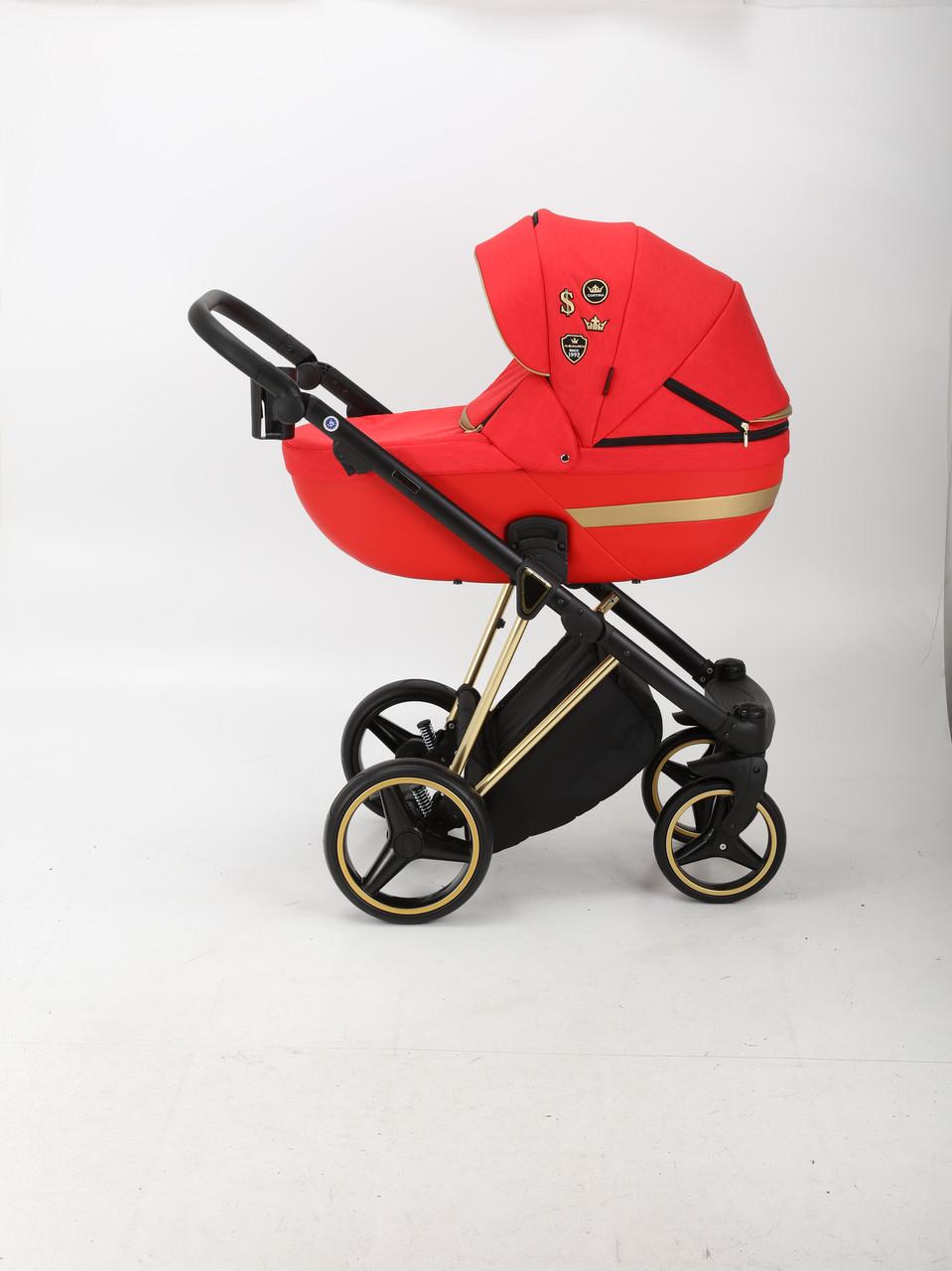 Коляска Adamex Cortina Sport CS-473 Red красная 2в1