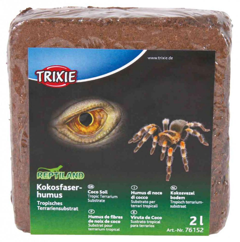 Прессованный кокосовый грунт для террариума Trixie 2 л (160 г)