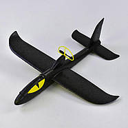Метательный самолет планер с электромотором Черный 34389, фото 2