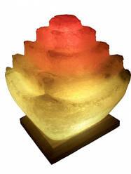 Соляний світильник Пагода 5-6кг з кольоровою лампочкою