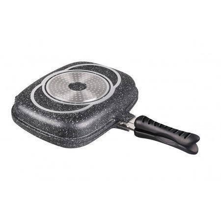 Сковорода-гриль 2в1 32 x4.8 см Bohmann BH-1700-32 MRB, фото 2